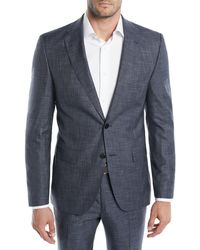 BOSS - Men's Melange Wool-silk Two-piece Suit - Lyst