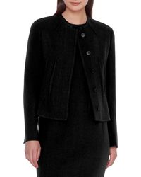 Akris - Abadin Round Neck Short Waist Jacket - Lyst