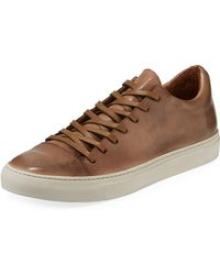 John Varvatos - Men's Reed Leather Low-top Sneakers - Lyst