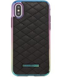 Rebecca Minkoff - Quilted Love Oil Slick Phone Case For Iphone® X - Lyst