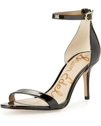 883643340 Lyst - Sam Edelman Patti Naked Sandal in Natural