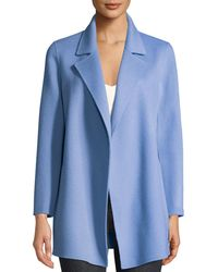 Theory - Clairene Open-front New Divide Wool-cashmere Coat - Lyst