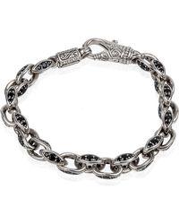 Konstantino - Men's Plato Sterling Silver Link Bracelet With Black Spinel - Lyst