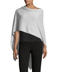Letarte - Solid Cashmere Wrap Topper - Lyst