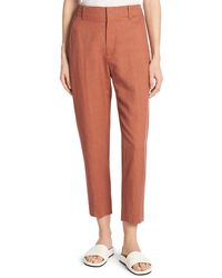 Vince - Sateen Cropped Carrot Pants - Lyst