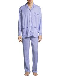 Neiman Marcus - Men's Two-piece Contrast-piped Pajama Set - Lyst