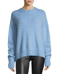 Helmut Lang | Crewneck Brushed Wool Pullover Sweater | Lyst