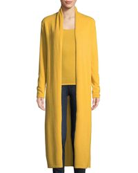 Neiman Marcus - Long Cashmere Duster Cardigan - Lyst