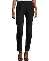 Lafayette 148 New York - Orchard Stretch-knit Straight-leg Pants - Lyst