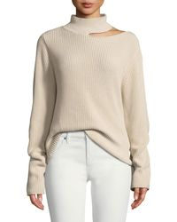 RTA - Langley Cutout Cotton Turtleneck Sweater - Lyst