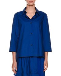 Marni - Collared Button-front Woven Blouse - Lyst