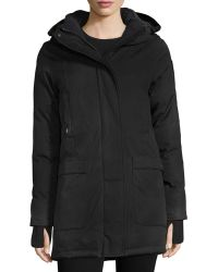 Nobis - Carla Hooded Zip-front Coat - Lyst