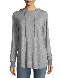 Allen Allen - Jersey Hoodie Sweater - Lyst