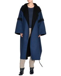 Agnona | Bicolor Double-face Cashmere Coat | Lyst