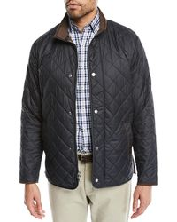 Peter Millar - Men's Suffolk Quilted Car Coat - Lyst