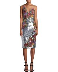 Alice + Olivia - Francie Embellished Fitted Shirt Gown - Lyst