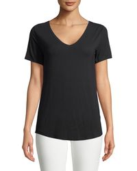 Neiman Marcus - Soft Touch Short-sleeve Top - Lyst