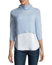 Elie Tahari | Claudetta Cashmere & Silk Combo Sweater | Lyst