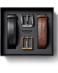 Shinola - Men's Leather Belt Boxed Gift Set - Lyst