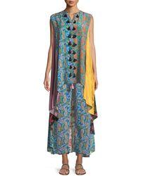 Figue - Iman Patchwork-print Sleeveless A-line Tunic Dress - Lyst
