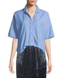 Joie - Selsie Short-sleeve Button-down Top - Lyst
