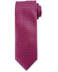 Canali - Boxed Floral Silk Tie - Lyst