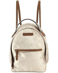 Brunello Cucinelli - Medium Velvet Backpack With Monili Strap - Lyst