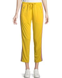 Rebecca Minkoff - Jolie Side-stripe Cropped Track Pants - Lyst