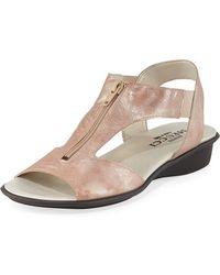 Sesto Meucci - Eliso Metallic Comfort Sandal - Lyst