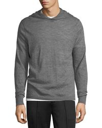 Vince | Hooded Wool Pullover Sweater | Lyst