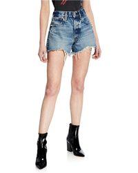 Moussy - Reedy Denim Shorts - Lyst