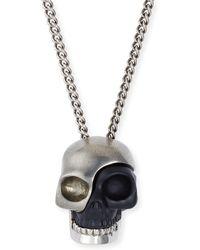 Alexander McQueen - Divided Skull Pendant Necklace - Lyst