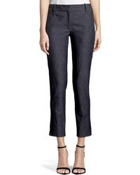 Theory - Classic Straight-leg Cropped Denim Trousers - Lyst