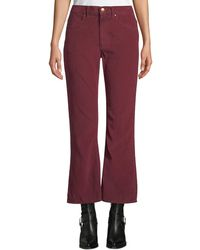 The Great - The Western Crop Flare-leg Corduroy Jeans - Lyst