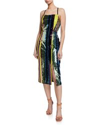 7cc0b0b34b3e2 Elliatt - Influencer Multi-sequin Stripe Sleeveless Cocktail Dress - Lyst