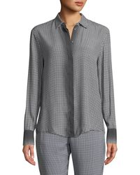 e75c6cf60b3618 Piazza Sempione - Ombre Checked Long-sleeve Button-front Shirt - Lyst
