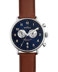 Shinola - Men's 43mm Canfield Chronograph Watch - Lyst