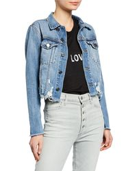 062e72115f817d Etienne Marcel - Cropped Denim Jacket With Zippers - Lyst