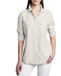 Go> By Go Silk - Safari Long-sleeve Silk Shirt Petite - Lyst