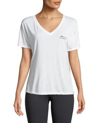 For Better Not Worse - Short-sleeve V-neck Graphic Tee - Lyst