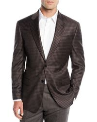 Emporio Armani - Men's District Check Two-button Wool Sport Coat Jacket - Lyst
