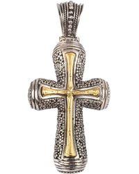 Konstantino - Men's Stavros 18k Gold Inset Cross Pendant - Lyst