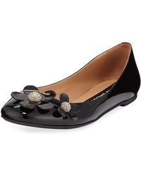 Marc Jacobs - Daisy Leather Ballet Flats - Lyst