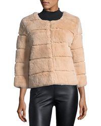 Belle Fare - Hook-front Rabbit Fur Jacket - Lyst