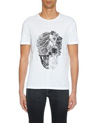 Alexander McQueen - Men's Skull Graphic Cotton T-shirt - Lyst
