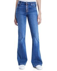 PAIGE - Genevieve Flare-leg Jeans With Button Fly - Lyst