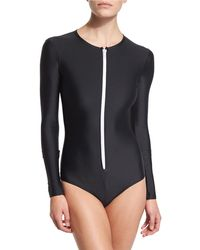 Cover - Upf 50 Long-sleeve Zip Swimsuit - Lyst