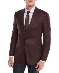 Giorgio Armani - Men's Micro-texture Wool Jacket - Lyst