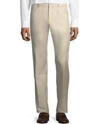 Zanella - Rasolino Cotton-linen Pants - Lyst