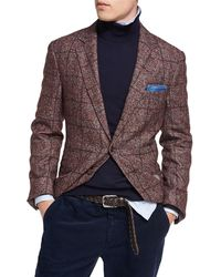 Brunello Cucinelli | Plaid Alpaca-wool Sport Jacket | Lyst